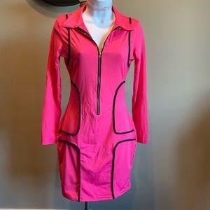 Pink stretchy bodycon dress
